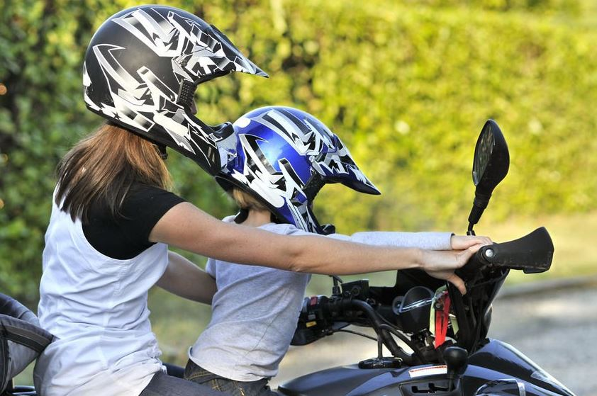 Legal age for child to ride on back of motorcycle